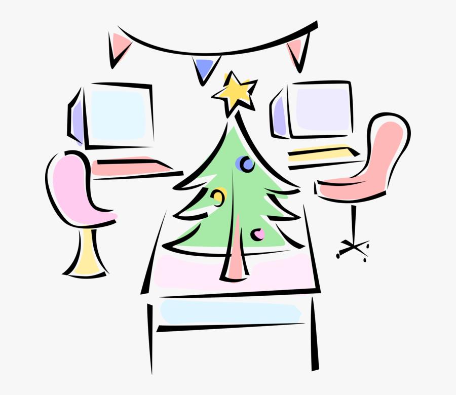 Vector Illustration Of Festive Season Office Party, Transparent Clipart