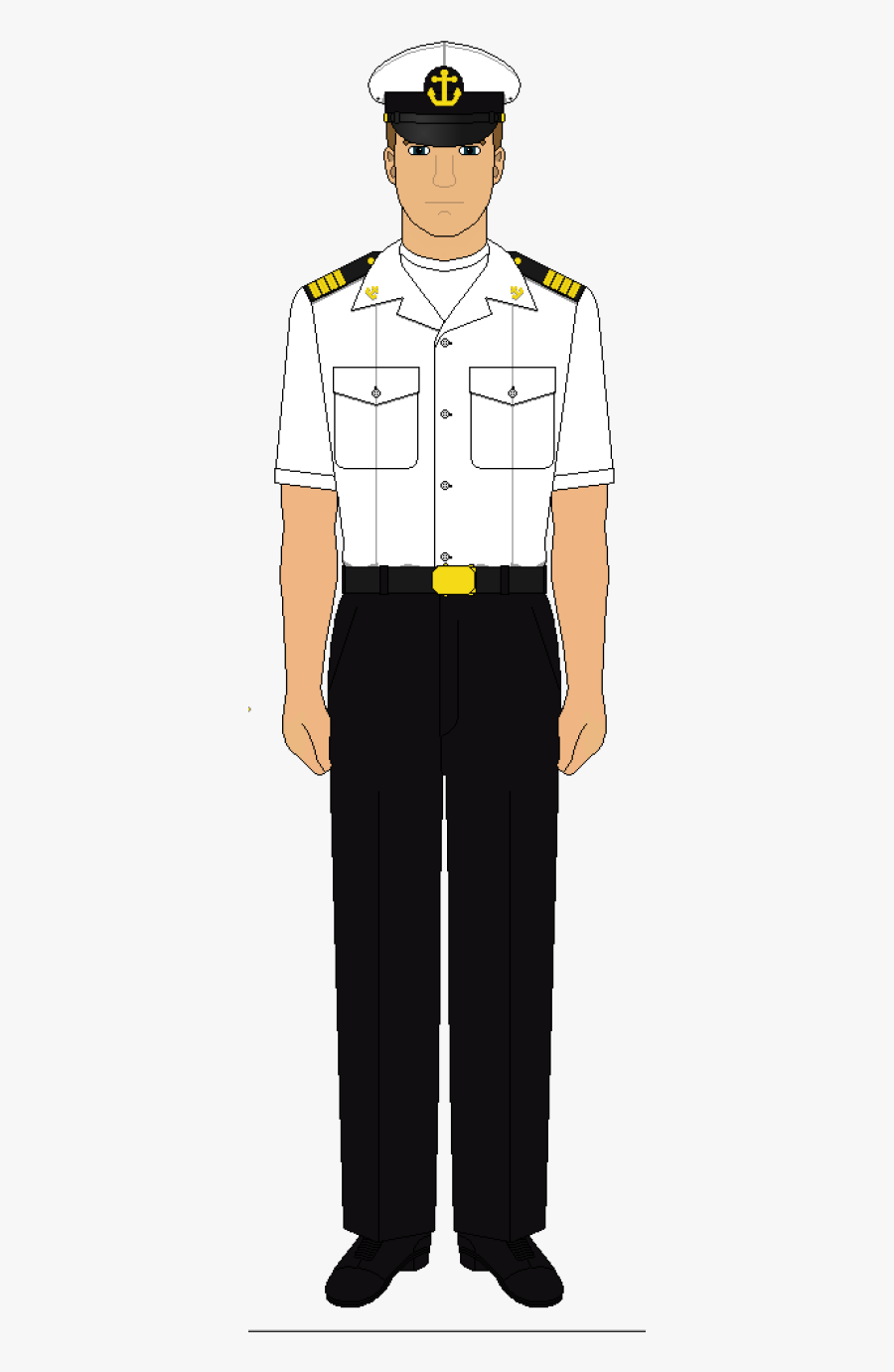 Black And White Navy Uniform, Transparent Clipart