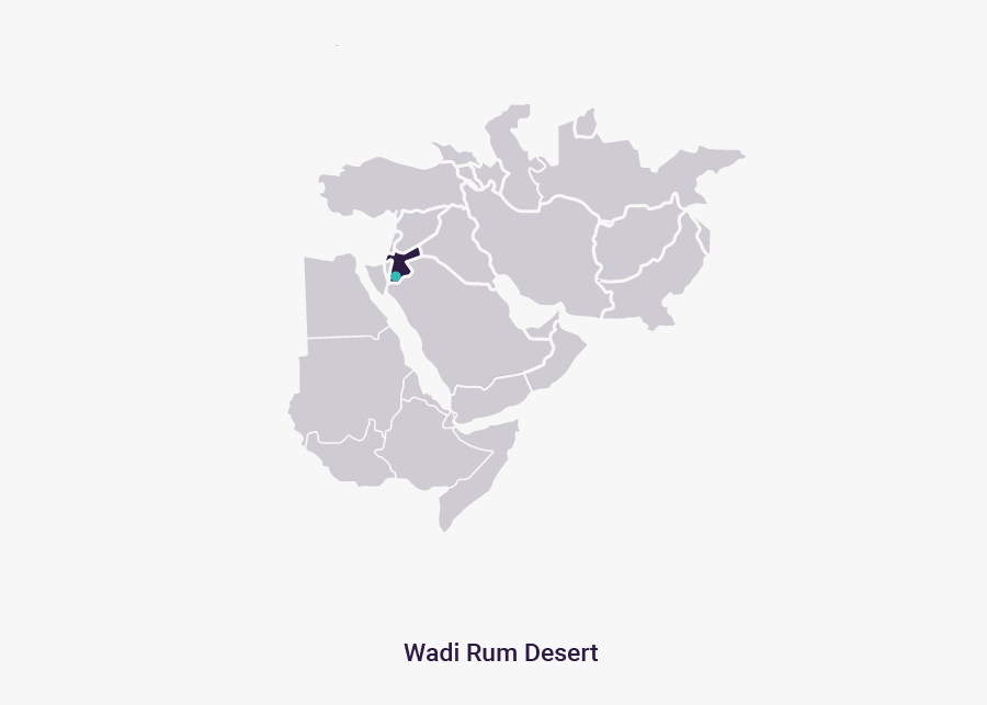 Wadi Rum Desert - Map, Transparent Clipart