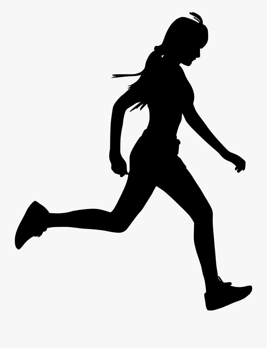 Vector Graphics Silhouette Illustration Woman Image - Running Woman Silhouette Png, Transparent Clipart