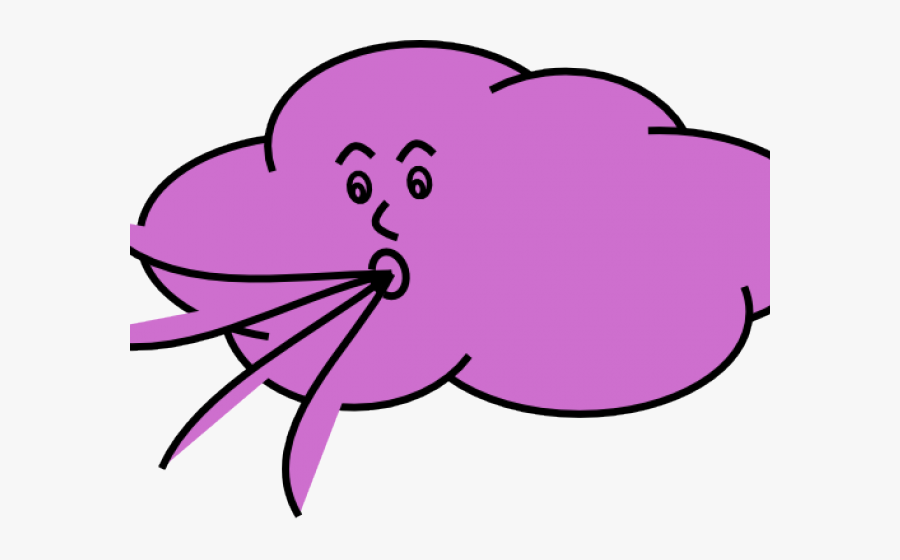 Wind Clipart Cute - Wind Blowing Cartoon Gif, Transparent Clipart