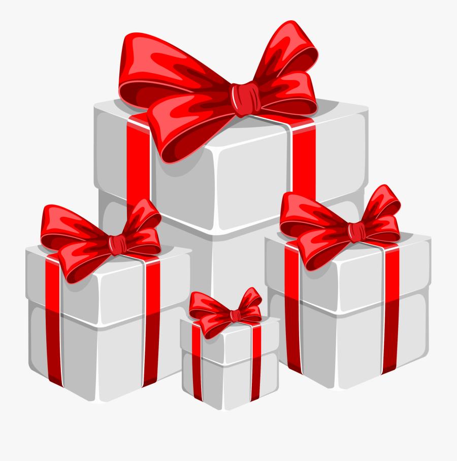 Santa Claus Christmas Gift - Gift Box Image Png, Transparent Clipart