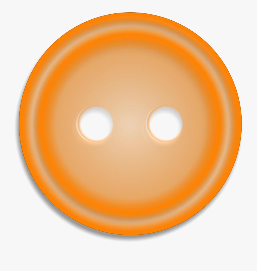 Buttons Clipart Orange Button - Shirt Button Png Orange, Transparent Clipart