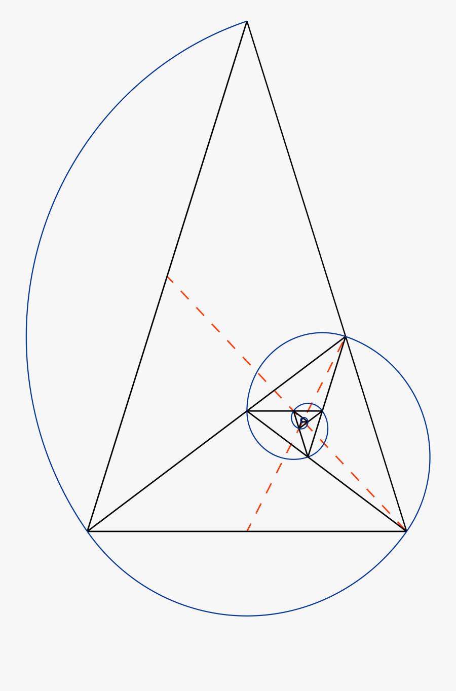 Clip Art Fibonacci Vector - Golden Ratio Triangle Vector, Transparent Clipart