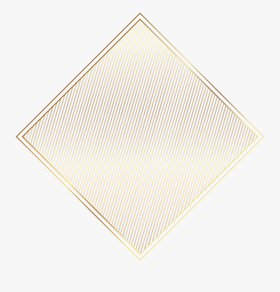 Triangle Gold Painted Pattern Label Vector Beige Clipart - Triangle, Transparent Clipart
