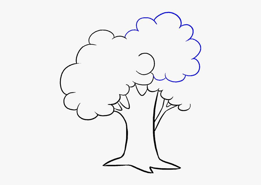 How To Draw Cartoon Tree - Draw A Cartoon Tree, Transparent Clipart