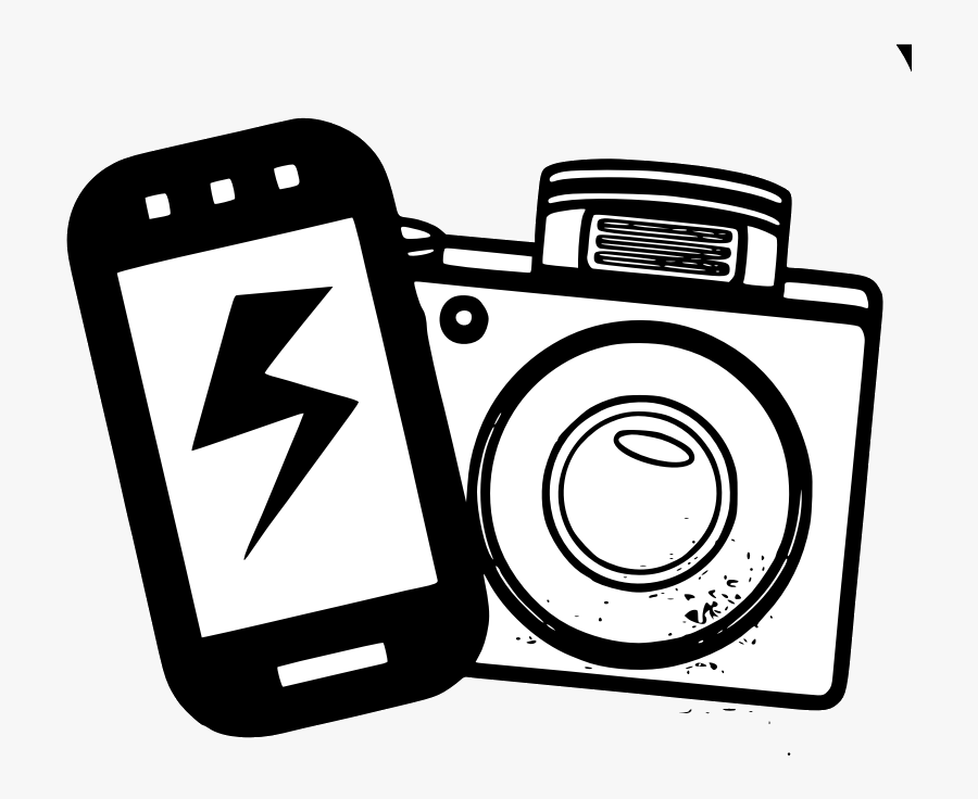 Camera Line Drawing Clip Art At Free For Personal Transparent - National Selfie Day 2019, Transparent Clipart