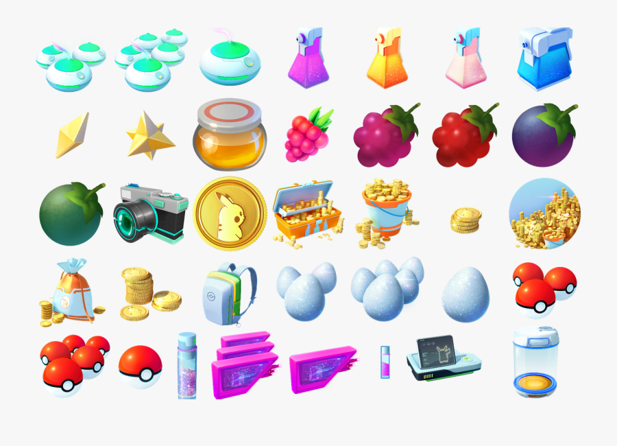 All Items In Pokemon Go, Transparent Clipart