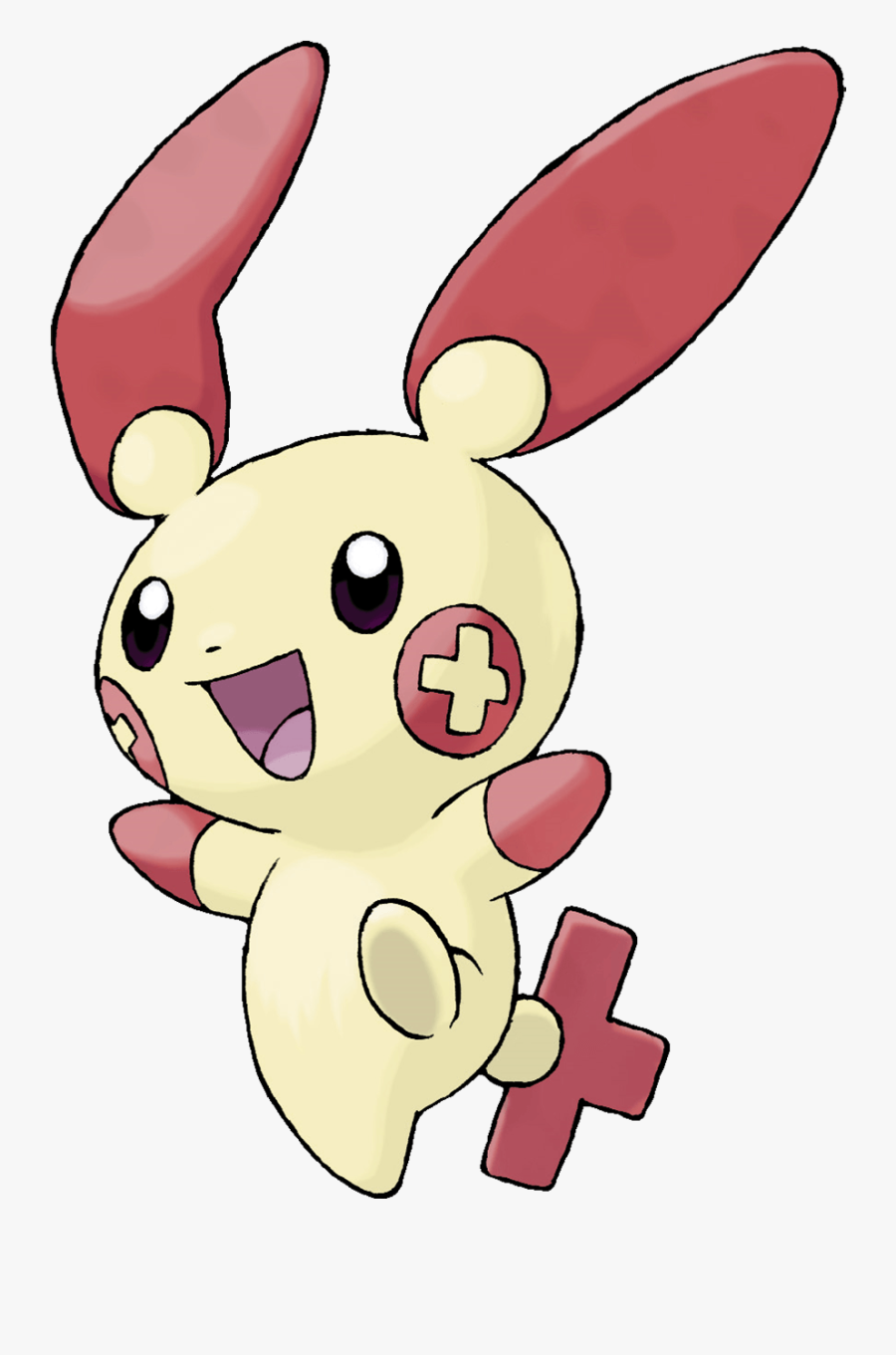 Pokemon Plusle, Transparent Clipart