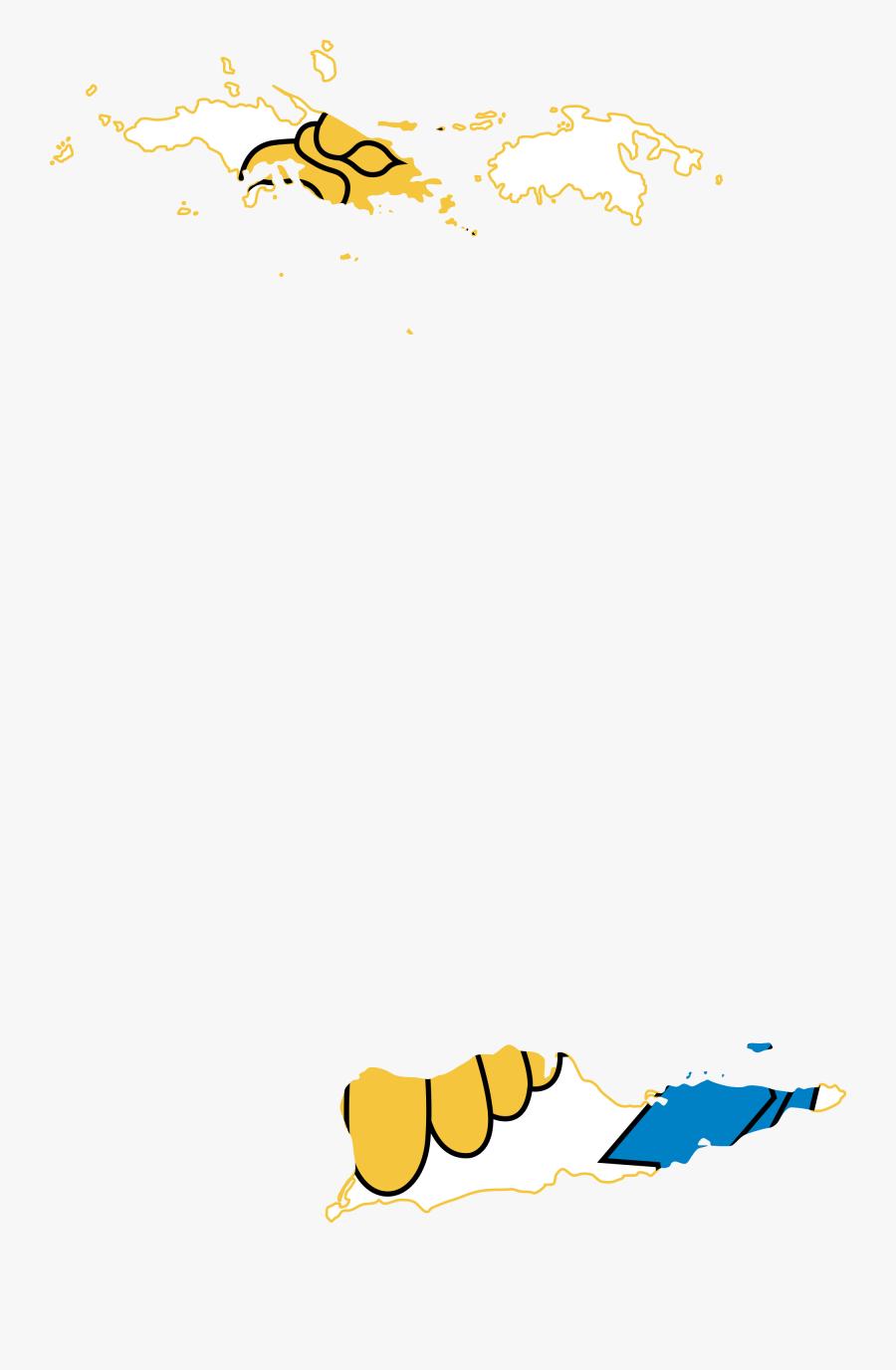 United States Virgin Islands - Us Virgin Islands Flag Map, Transparent Clipart