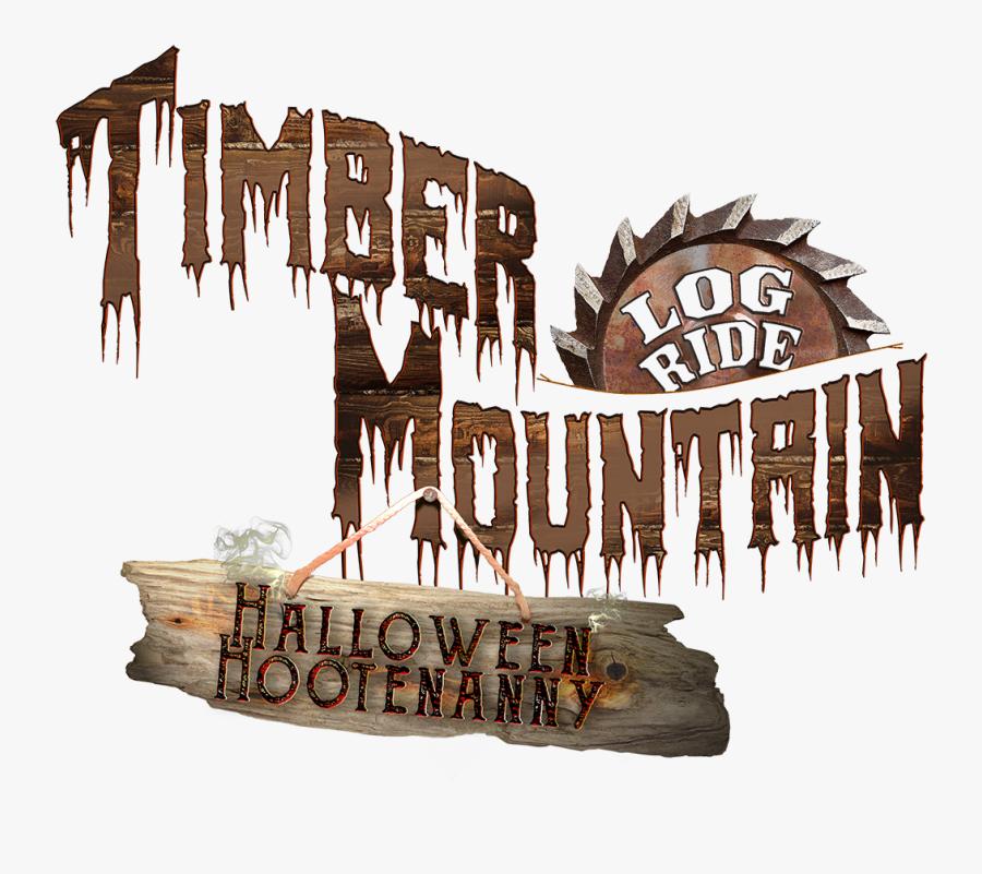 Enhrdwva - Knotts Berry Farm Timber Mountain Log Ride Halloween, Transparent Clipart