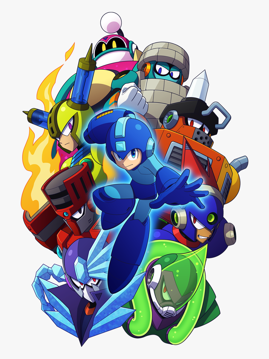 Clip Art High Quality Box Art - Mega Man 11 Robot Masters, Transparent Clipart