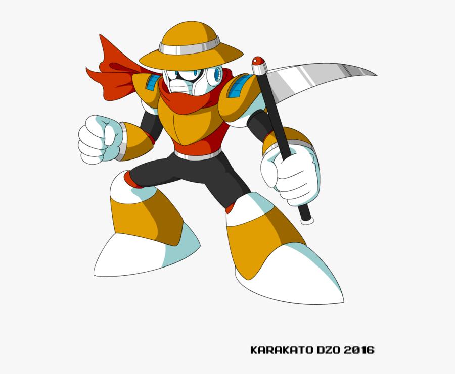Scythe Man Mega Fd - Nuclear Man Mega Man, Transparent Clipart