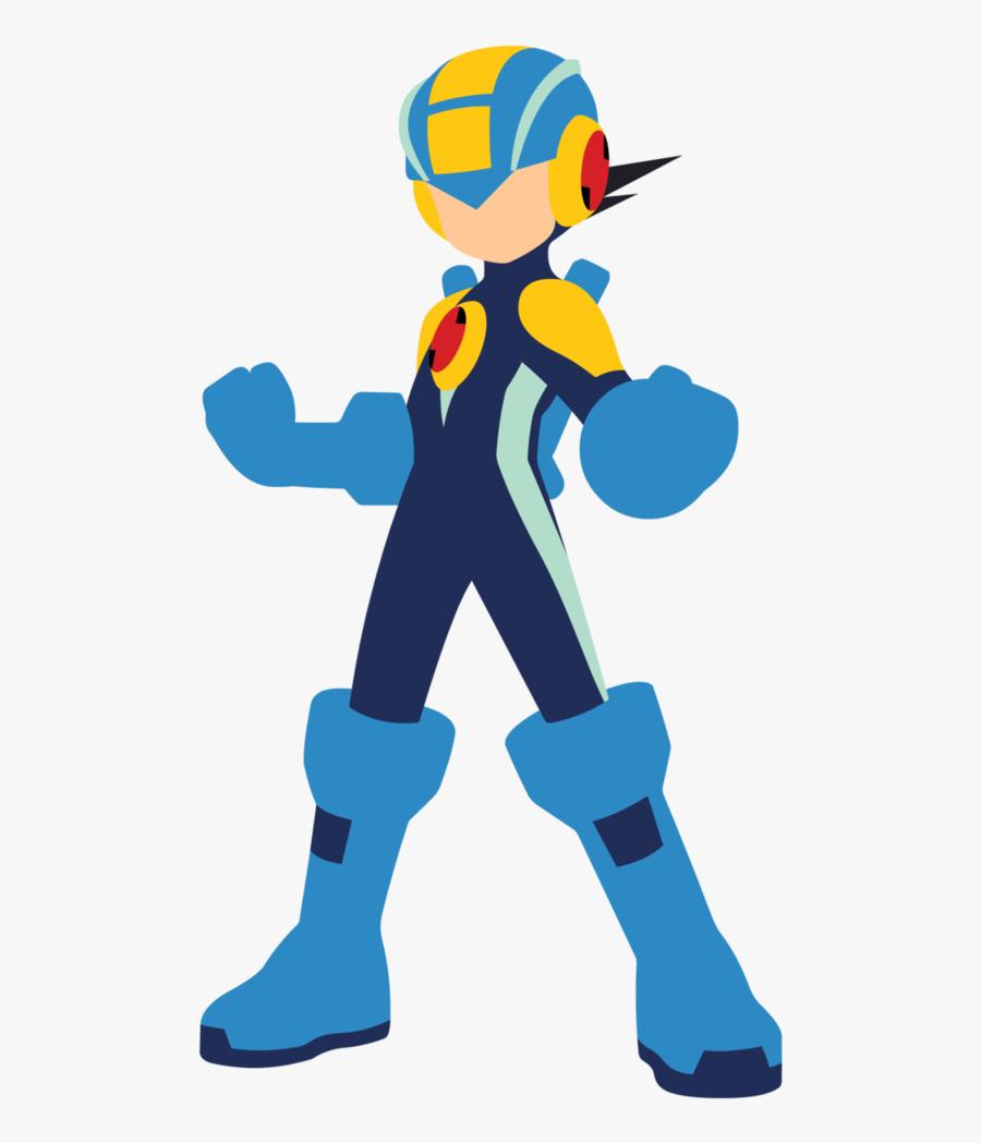 Megaman Vector By Jax89man - Megaman Rockman Exe, Transparent Clipart