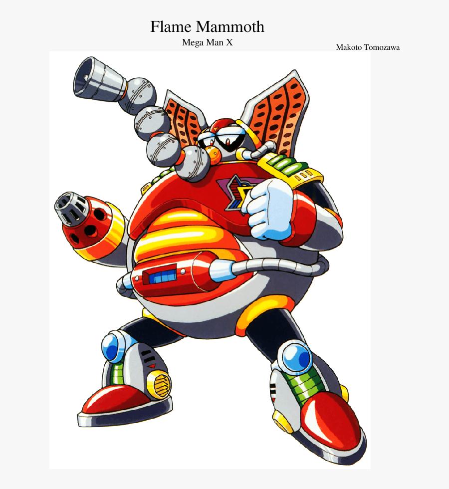 Transparent Megaman X Logo Png - Flame Mammoth Megaman X, Transparent Clipart
