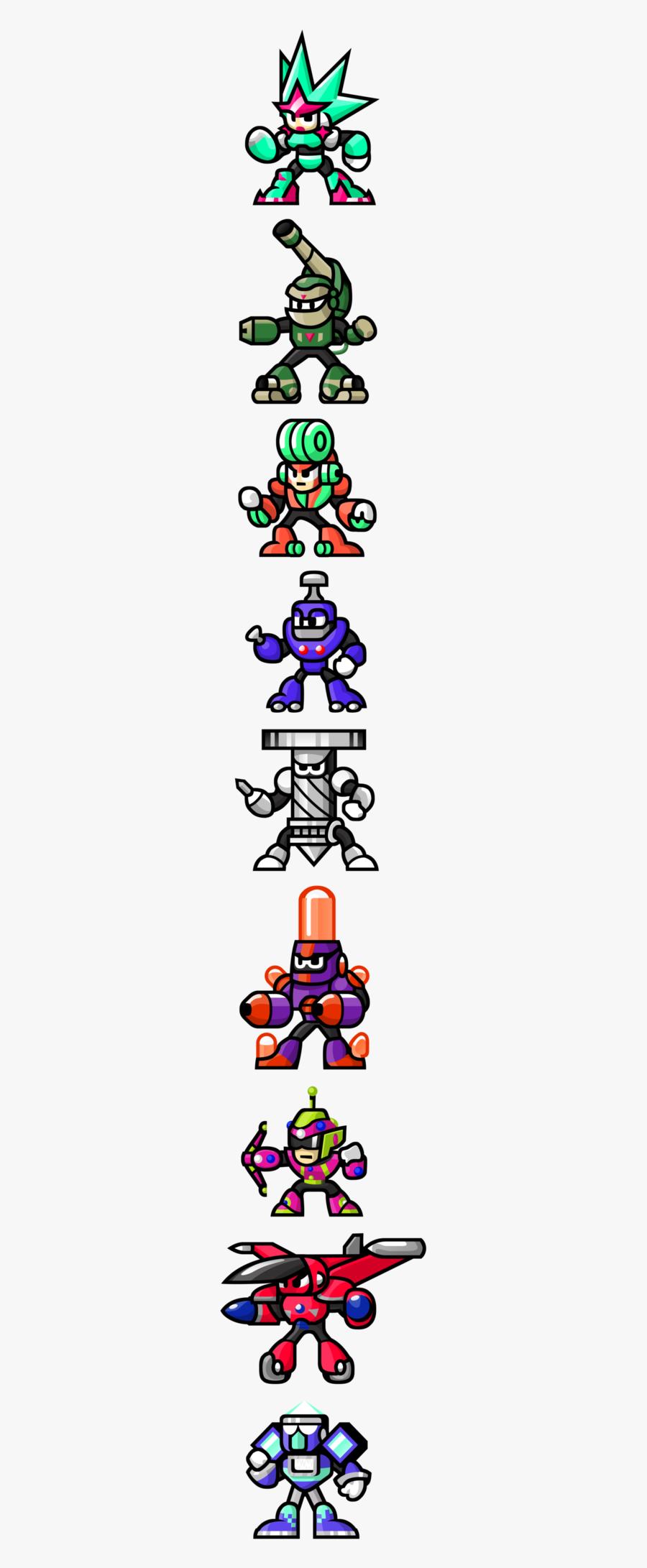 Mega Man Unlimited Robot Masters, Transparent Clipart
