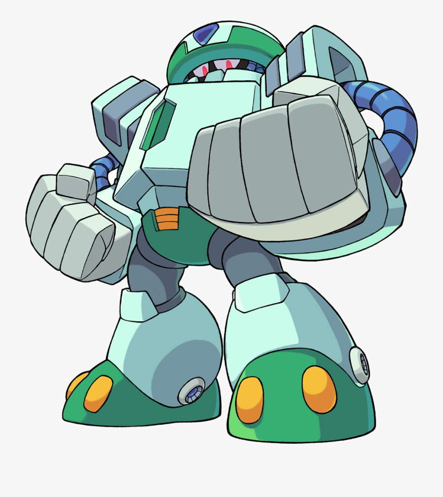 Mega Man And Bass All Robot Masters, Transparent Clipart