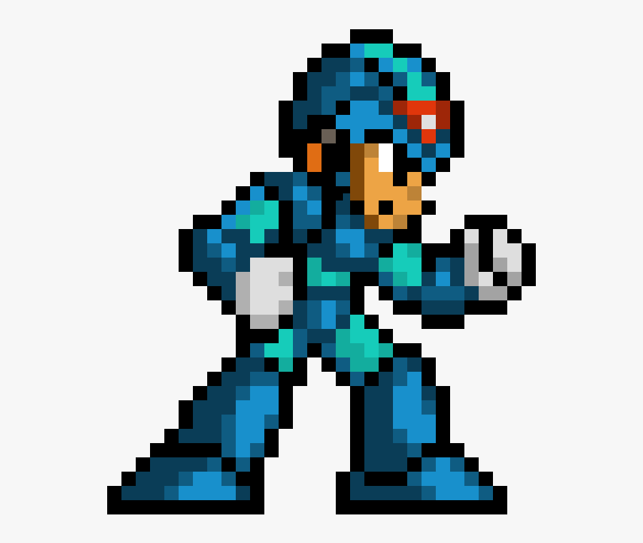 Mega Man Sprite Png - Mega Man X Pixel, Transparent Clipart