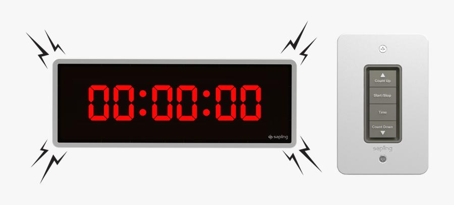 Digital Timer Png Picture - Led Display, Transparent Clipart