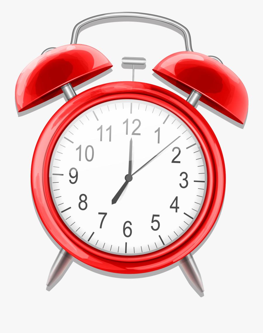 Watch Clipart Alarm Clock - Red Alarm Clock Png, Transparent Clipart