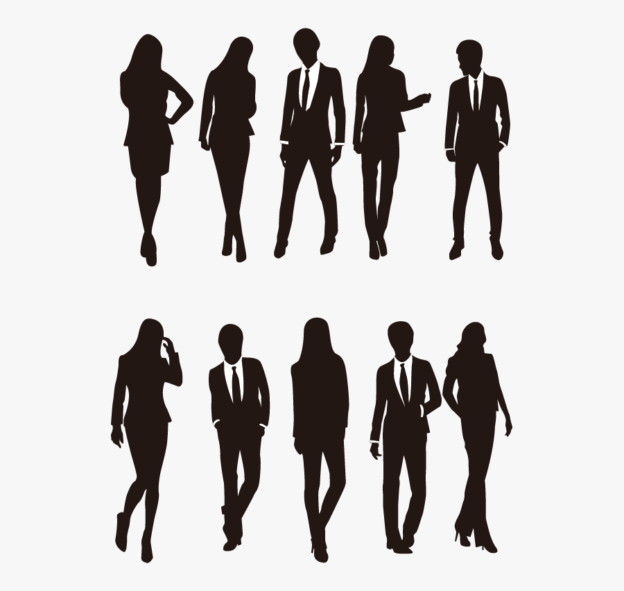Silhouette Download Illustration - Silhouette Business People Png, Transparent Clipart