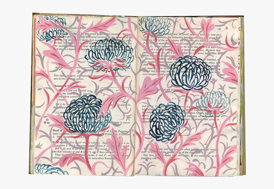 Clip Art Sketch Book Pages - Motif, Transparent Clipart