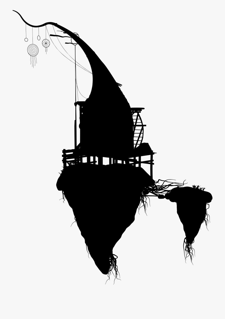 Transparent House Silhouette Png - Illustration, Transparent Clipart