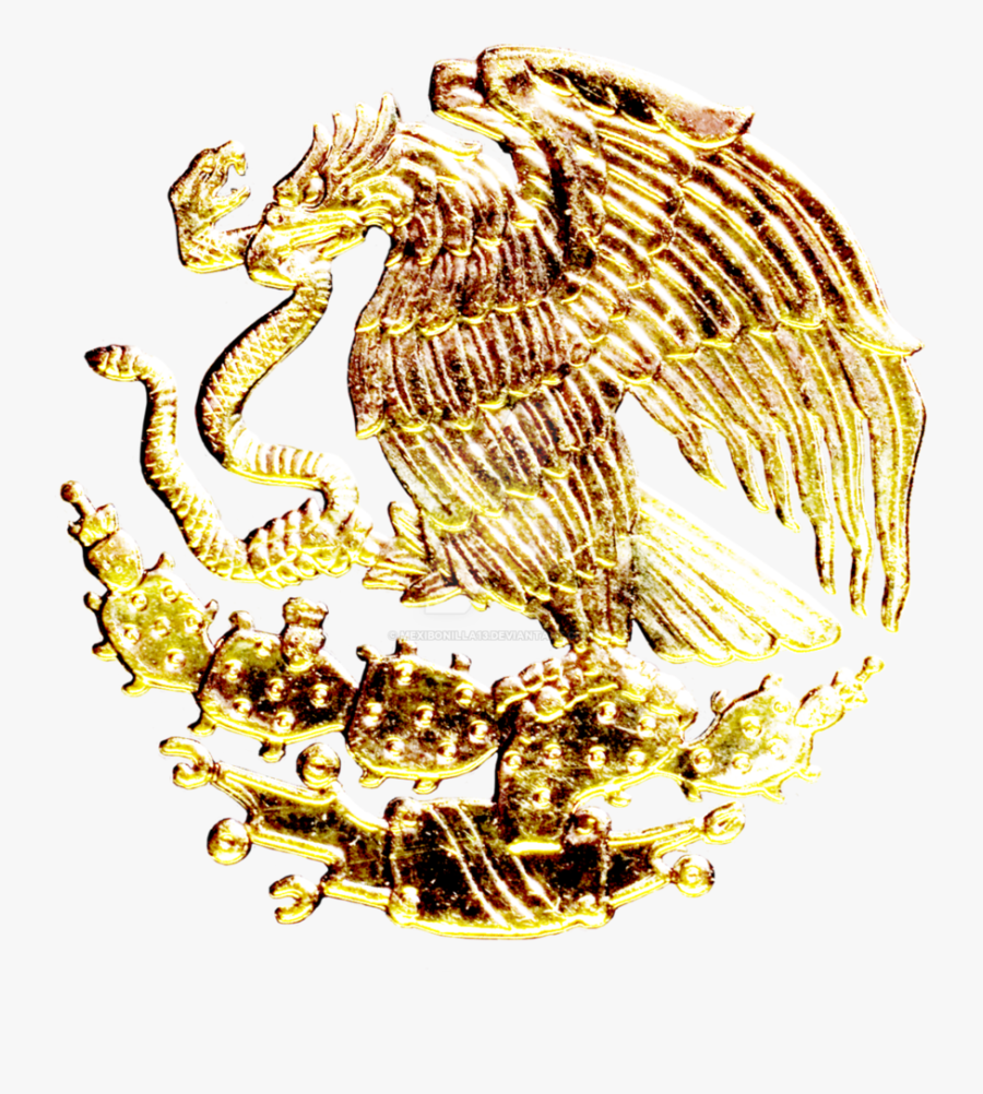 Transparent Gold Underline Png - Mexico Coat Of Arms Gold, Transparent Clipart