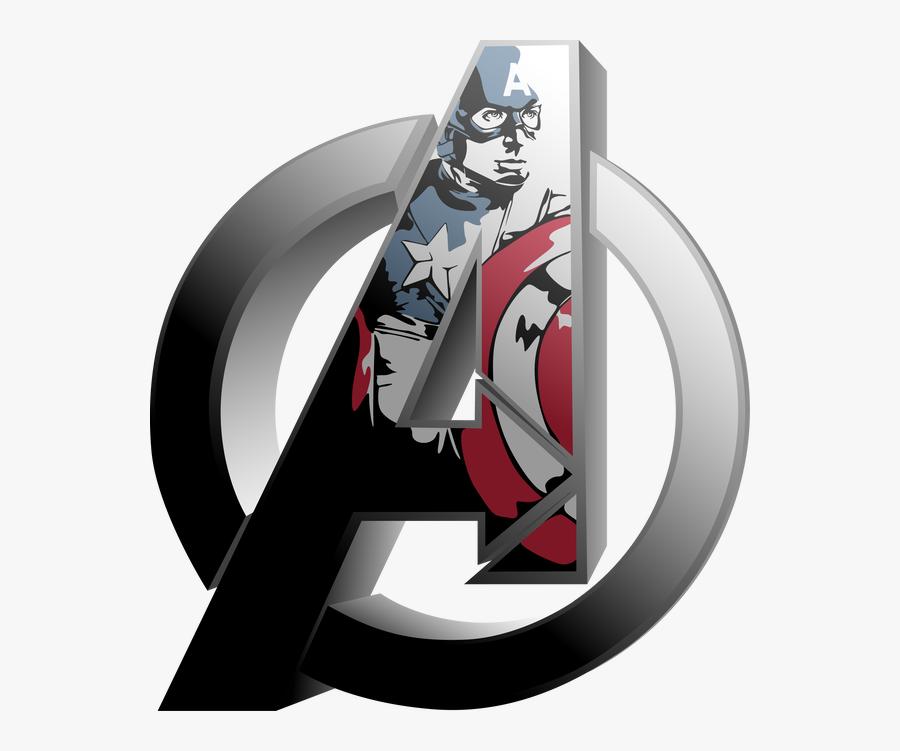 Captain America Logo Avengers - Captain America A Logo Png, Transparent Clipart