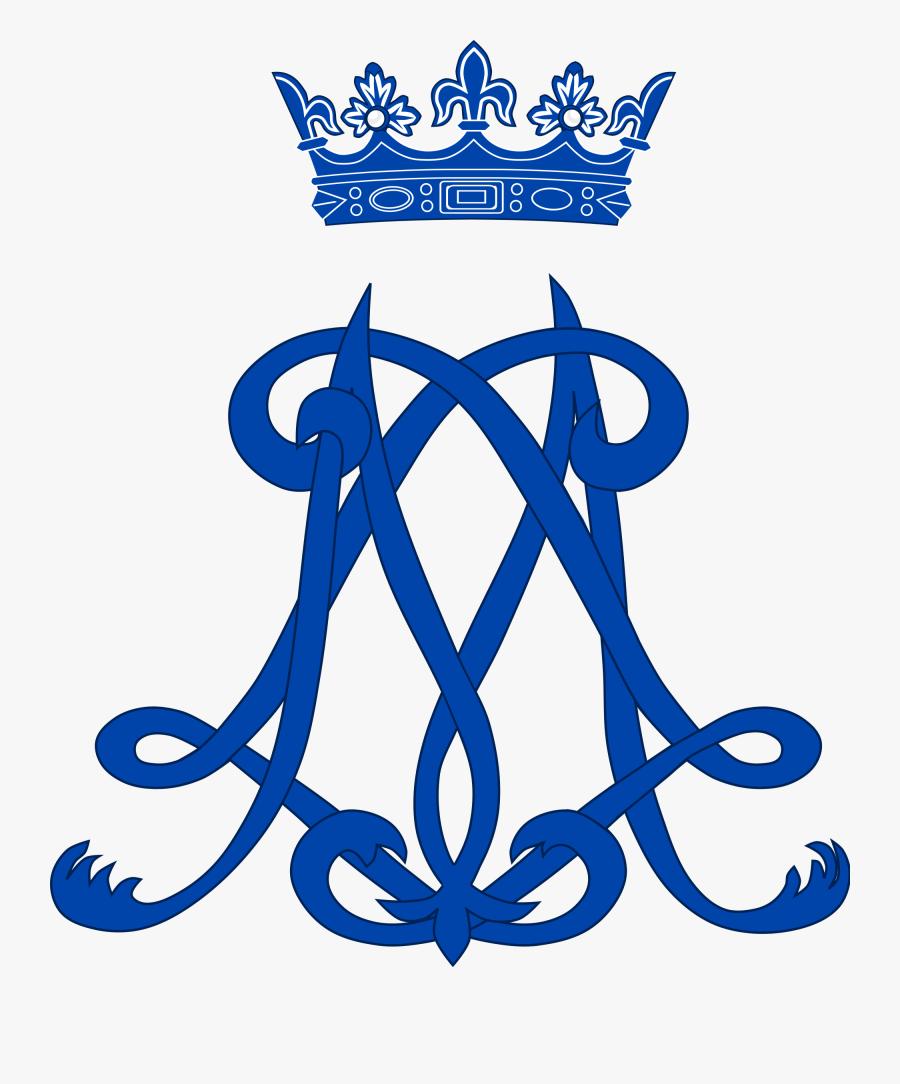 Princess Clipart Monogram - Princess Anne Marie Of Denmark Monogram, Transparent Clipart