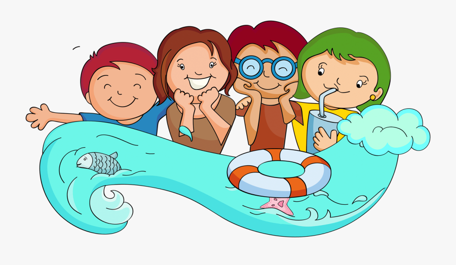Camping Clipart Family - Camp Clipart Swimming, Transparent Clipart