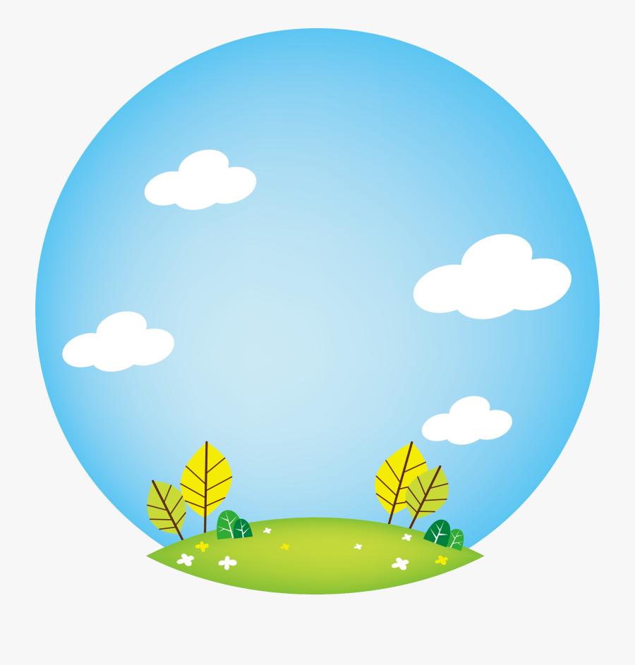 Blue Sky Grass Vector - Circle, Transparent Clipart