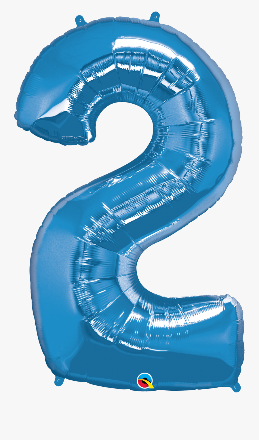 Foil Balloon Number 2 Blue & Weight - Numbers Balloon Pink 2, Transparent Clipart