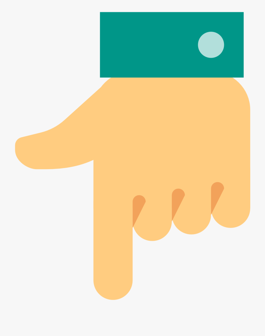 Hand Down Icon - Hand Point Down Png, Transparent Clipart