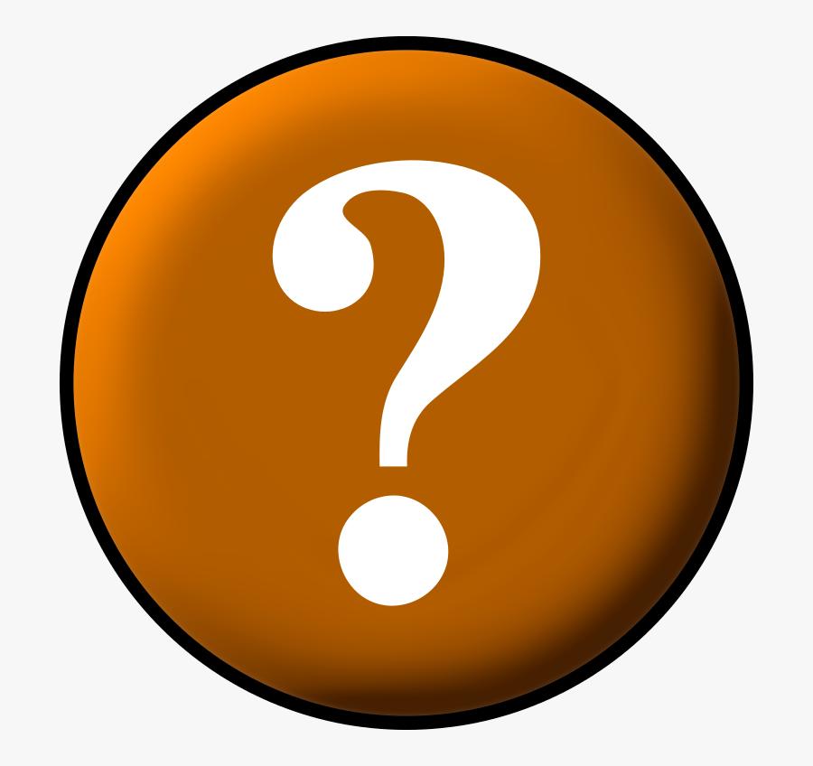 Circle Question Orange - Red Logo Question Mark Png, Transparent Clipart