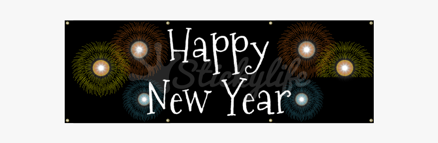 Happy New Year Banner Png - Graphic Design, Transparent Clipart