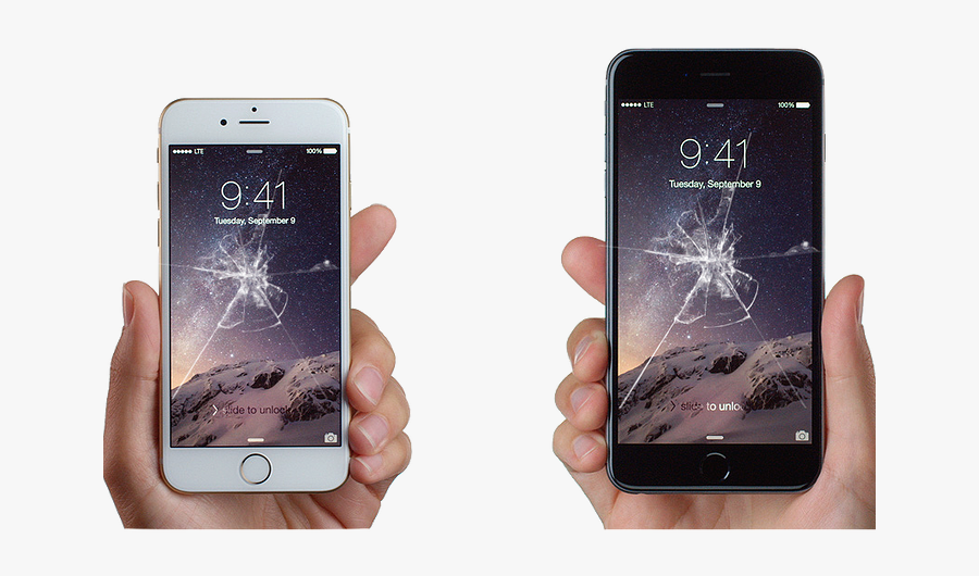 Transparent Broken Phone Clipart - Iphone 8 Broken Screen Png, Transparent Clipart
