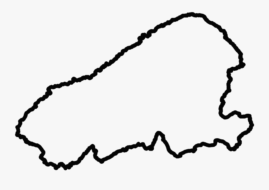 Island Clipart Island Outline - Outline Of An Island, Transparent Clipart