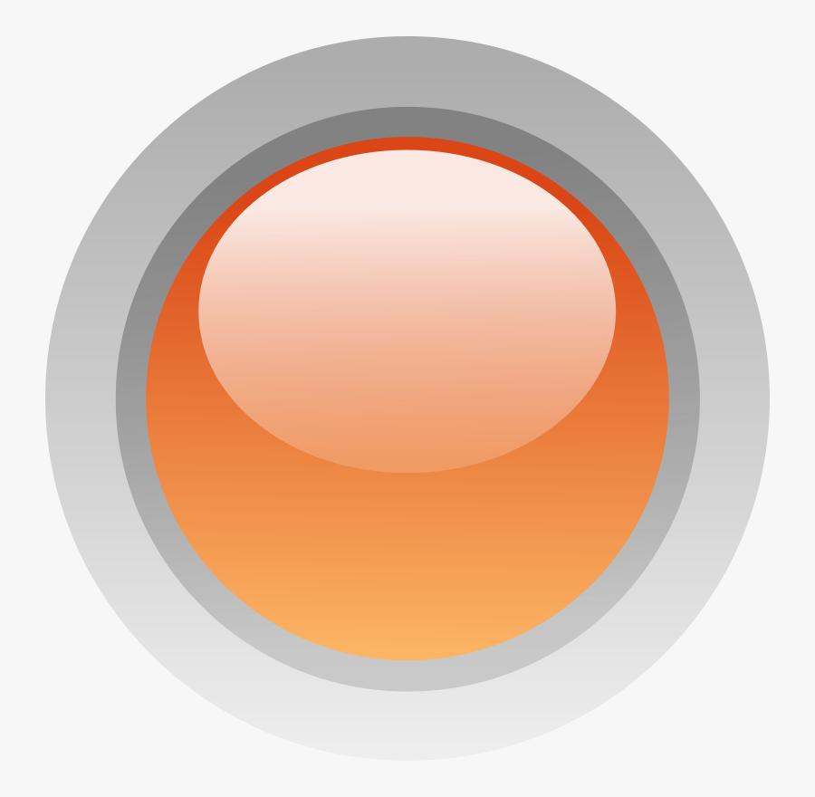 Led Circle Orange - Circle, Transparent Clipart