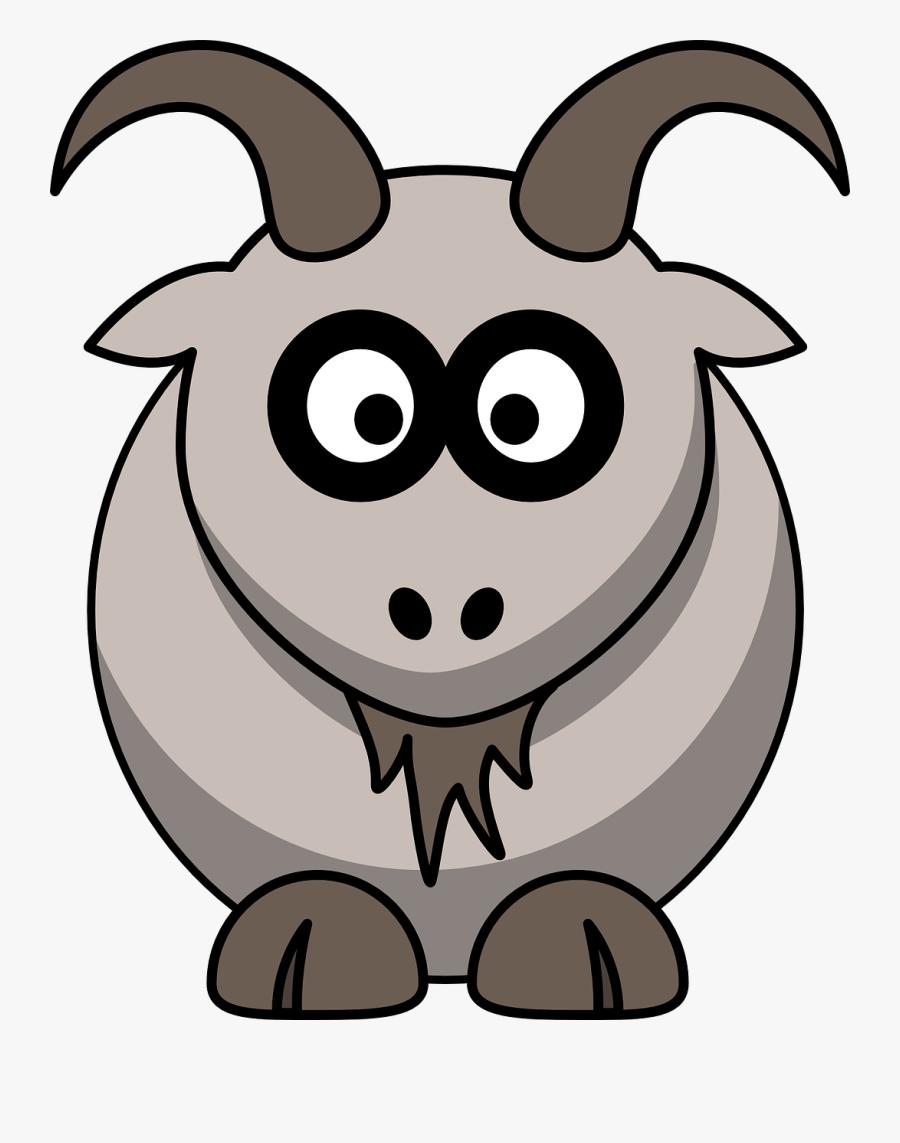 Goat Farm Animal Rural Free Photo - Cartoon Goat Clipart, Transparent Clipart
