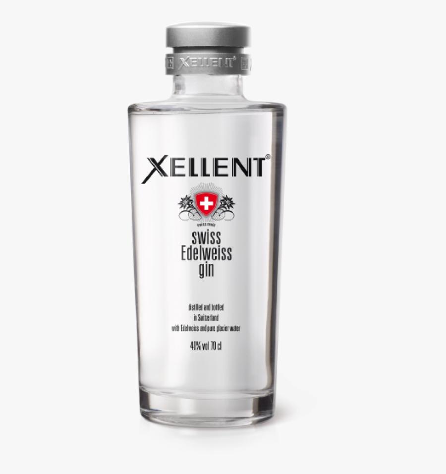 """Swiss Edelweiss Gin """"  Title=""""xellent - Gin Xellent, Transparent Clipart"""