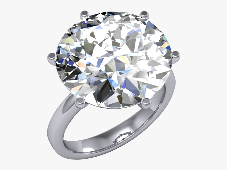 Simple Bands Round Huge Diamond Wedding Rings - Diamond Wedding Rings Png, Transparent Clipart