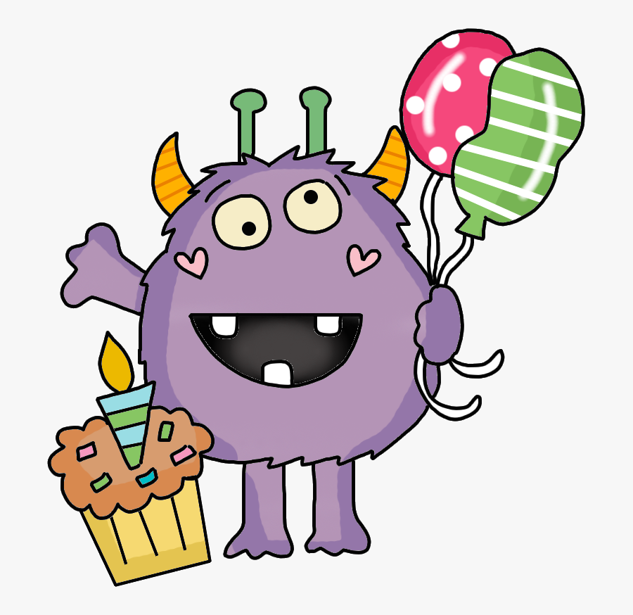 Birthday Monsters, Transparent Clipart