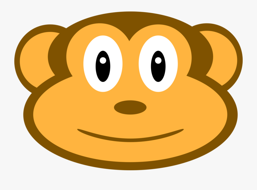 Animal Clipart Face Monkey - Animal Faces Art Clip, Transparent Clipart