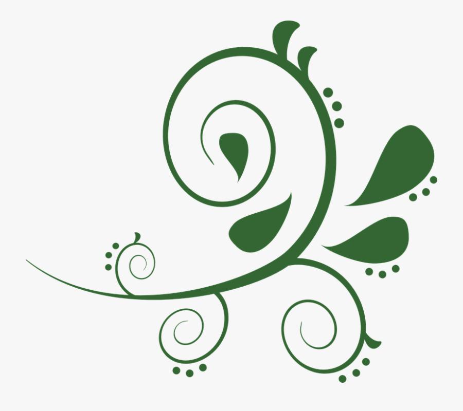 Transparent Green Swirl Png - Clipart Green Swirls, Transparent Clipart