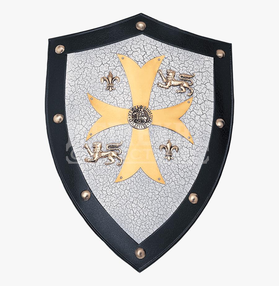 Knights Templar Shield, Transparent Clipart
