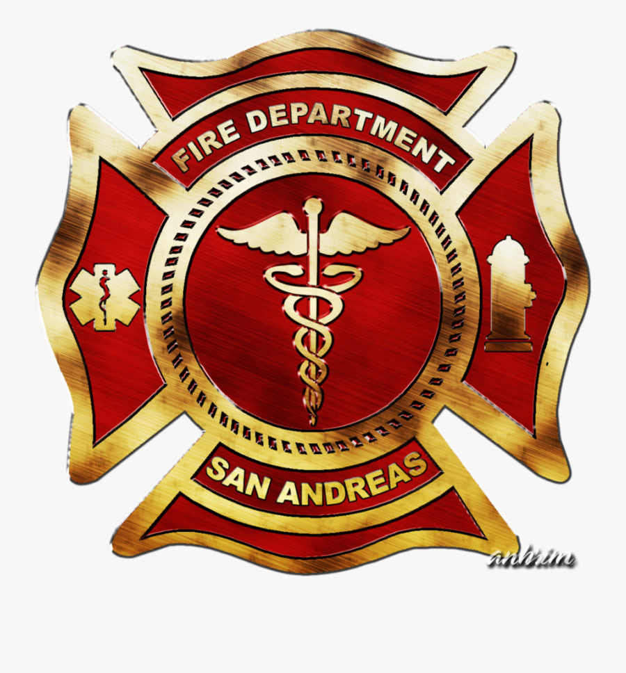 Fire Department Of San Andreas Logo By Portalphreak - San Andreas Fire Department Logo, Transparent Clipart