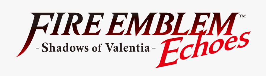Shadows Of Valentia Starter - Fire Emblem Echoes Shadows Of Valentia Logo, Transparent Clipart