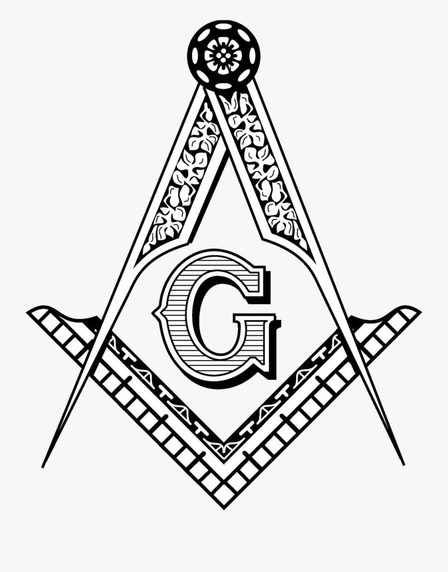 Masonic Square And Compass, Transparent Clipart