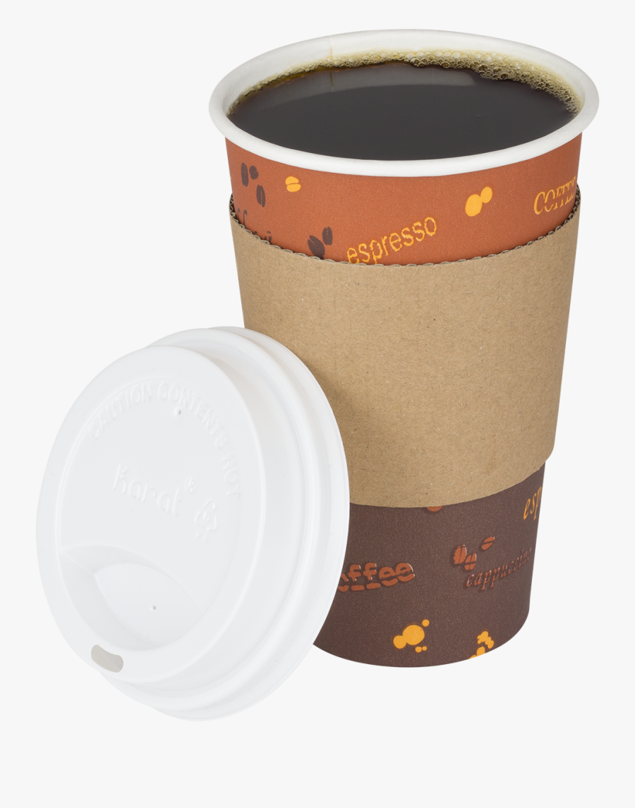Coffee Cup Sleeve Paper Cup - Paper Coffee Cup Clipart, Transparent Clipart